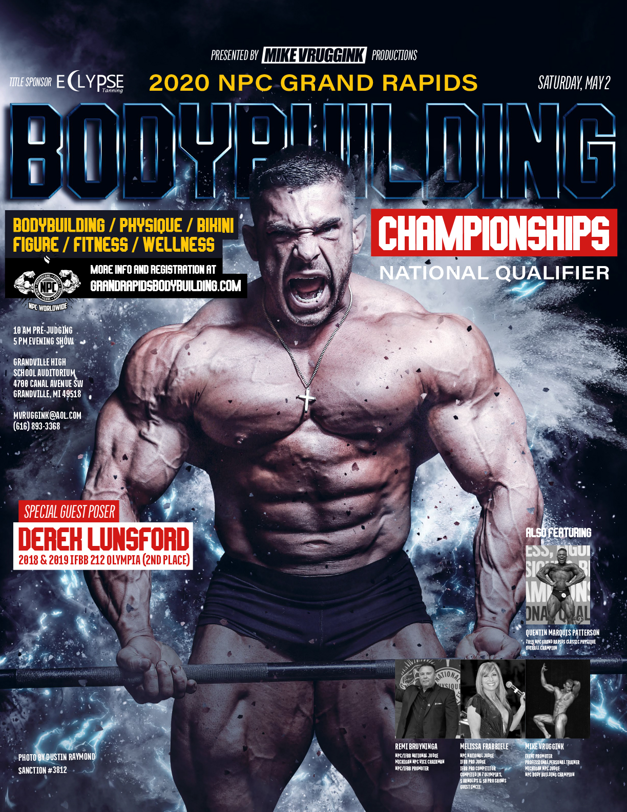NPC Grand Rapids Bodybuilding Championships (POSTPONED) Poster