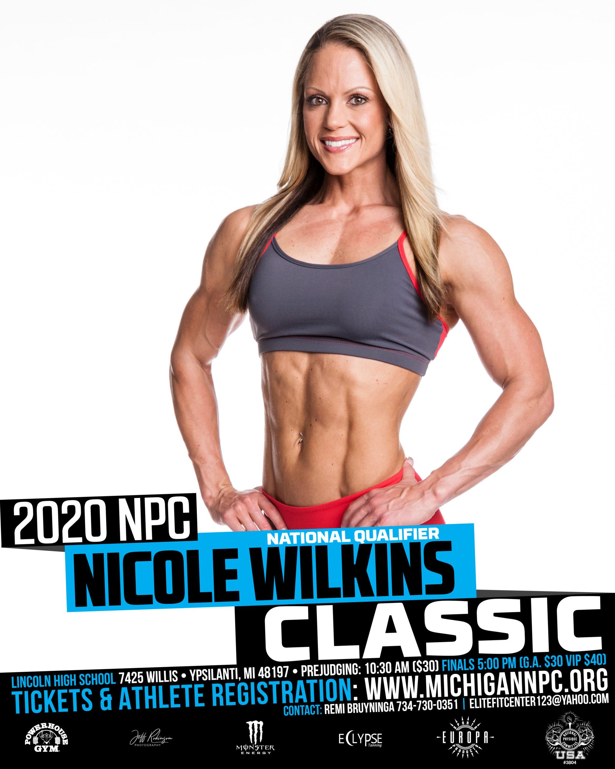 NPC Nicole Wilkins Classic Poster