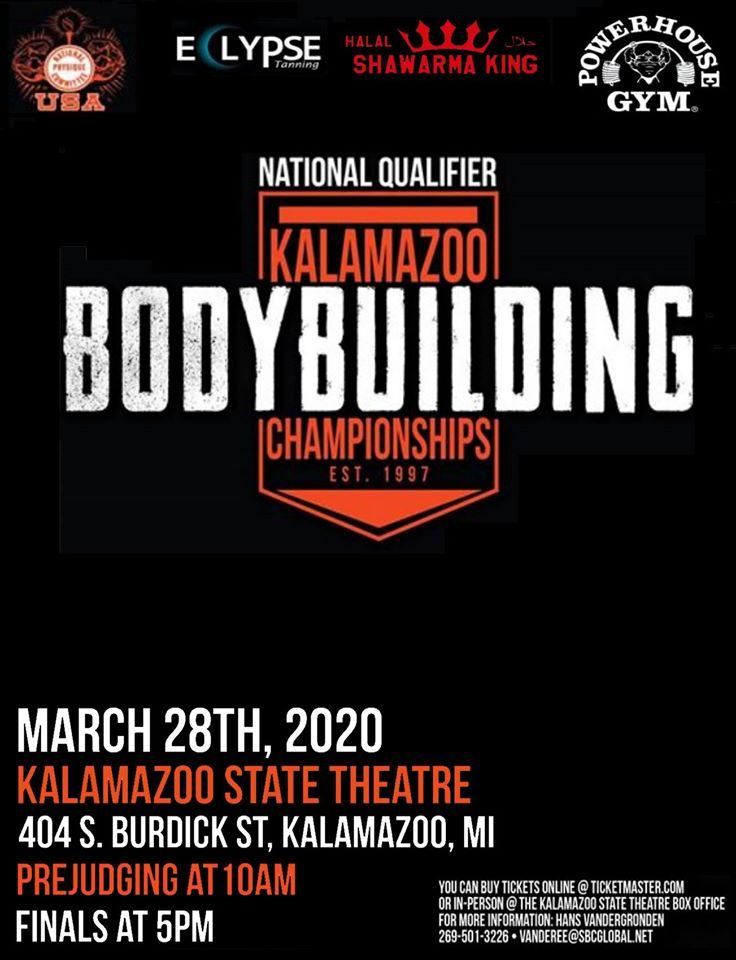 NPC Kalamazoo Bodybuilding Championships Poster