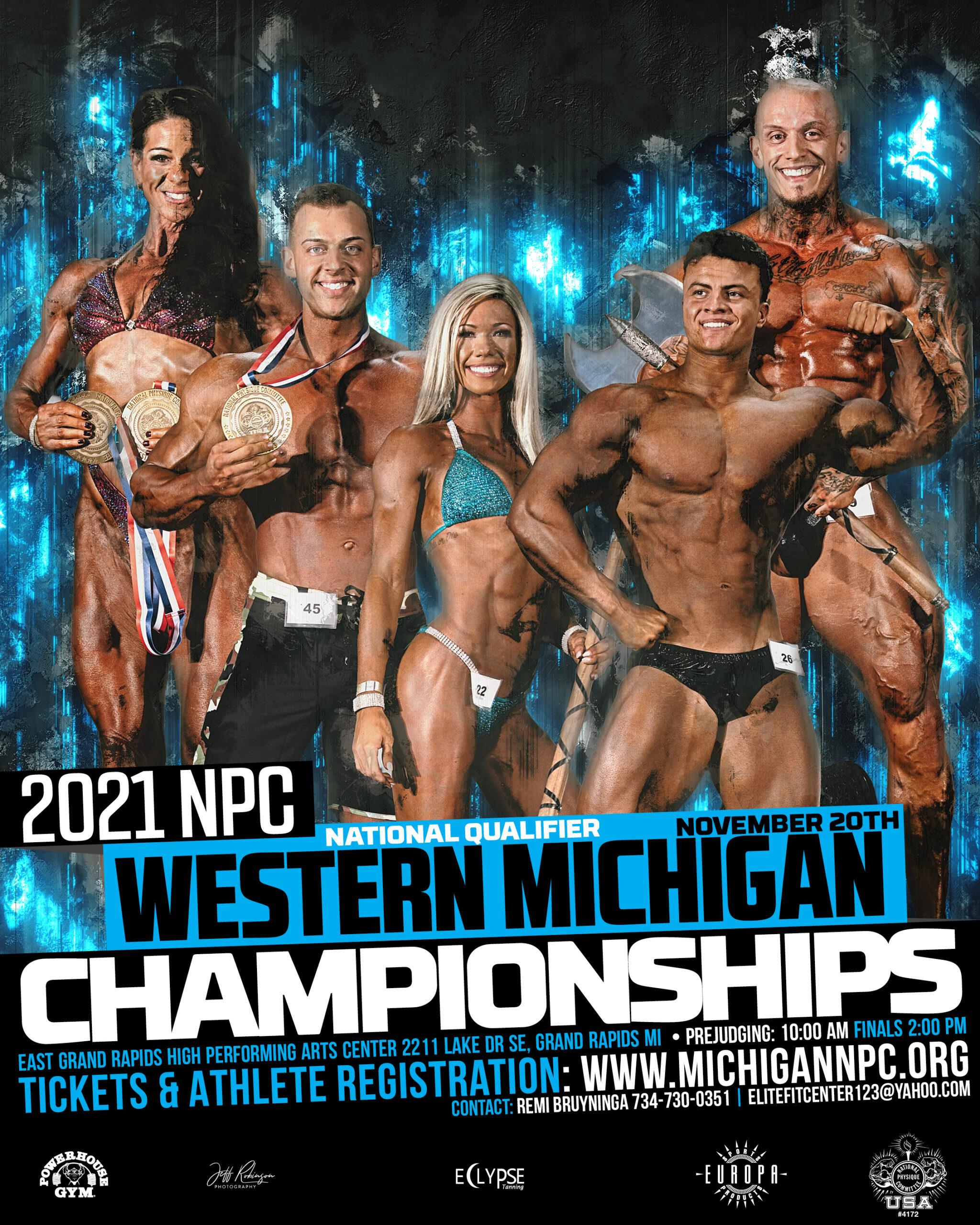2021 NPC Western Michigan Bodybuilding Championships Poster