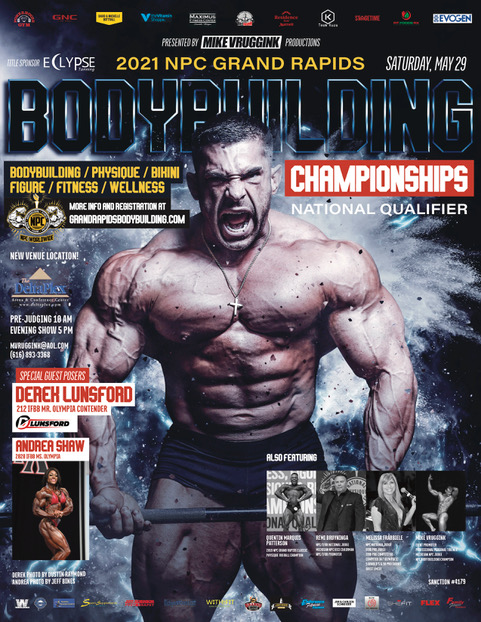 2021 NPC Grand Rapids Bodybuilding Championships Poster