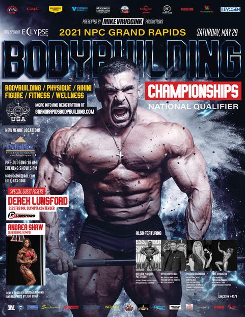 2021 NPC Grand Rapids Bodybuilding Championships Poster