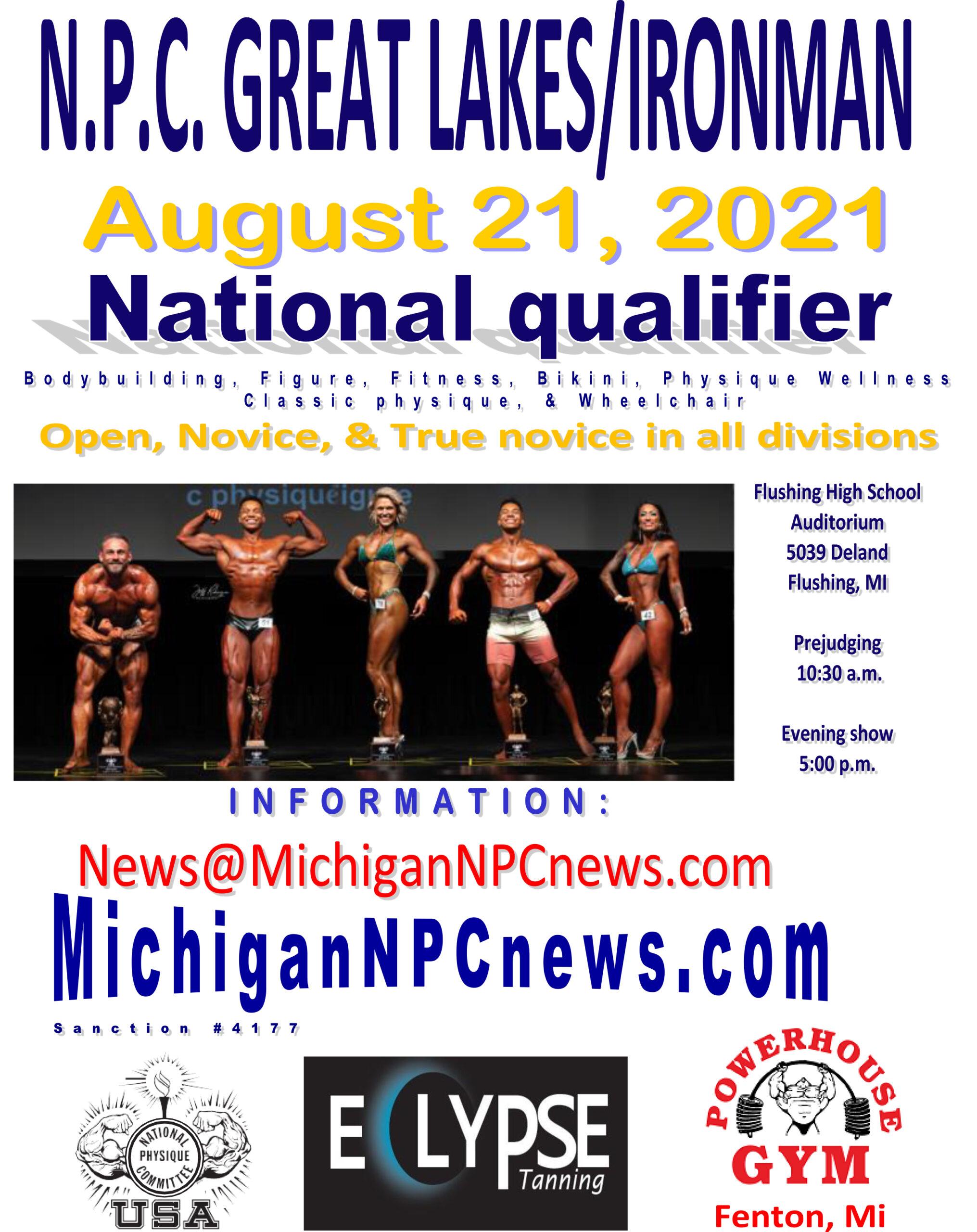 2021 NPC Great Lakes / Ironman Poster
