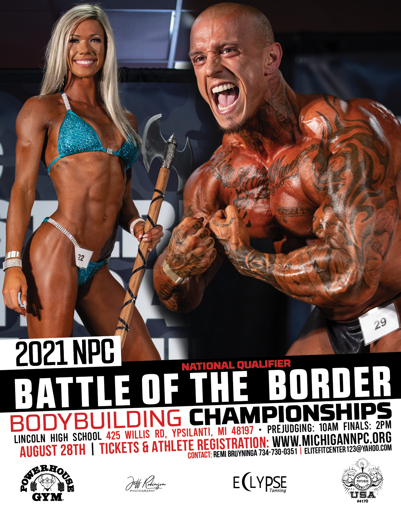 2021 NPC Battle of the Boarder Poster