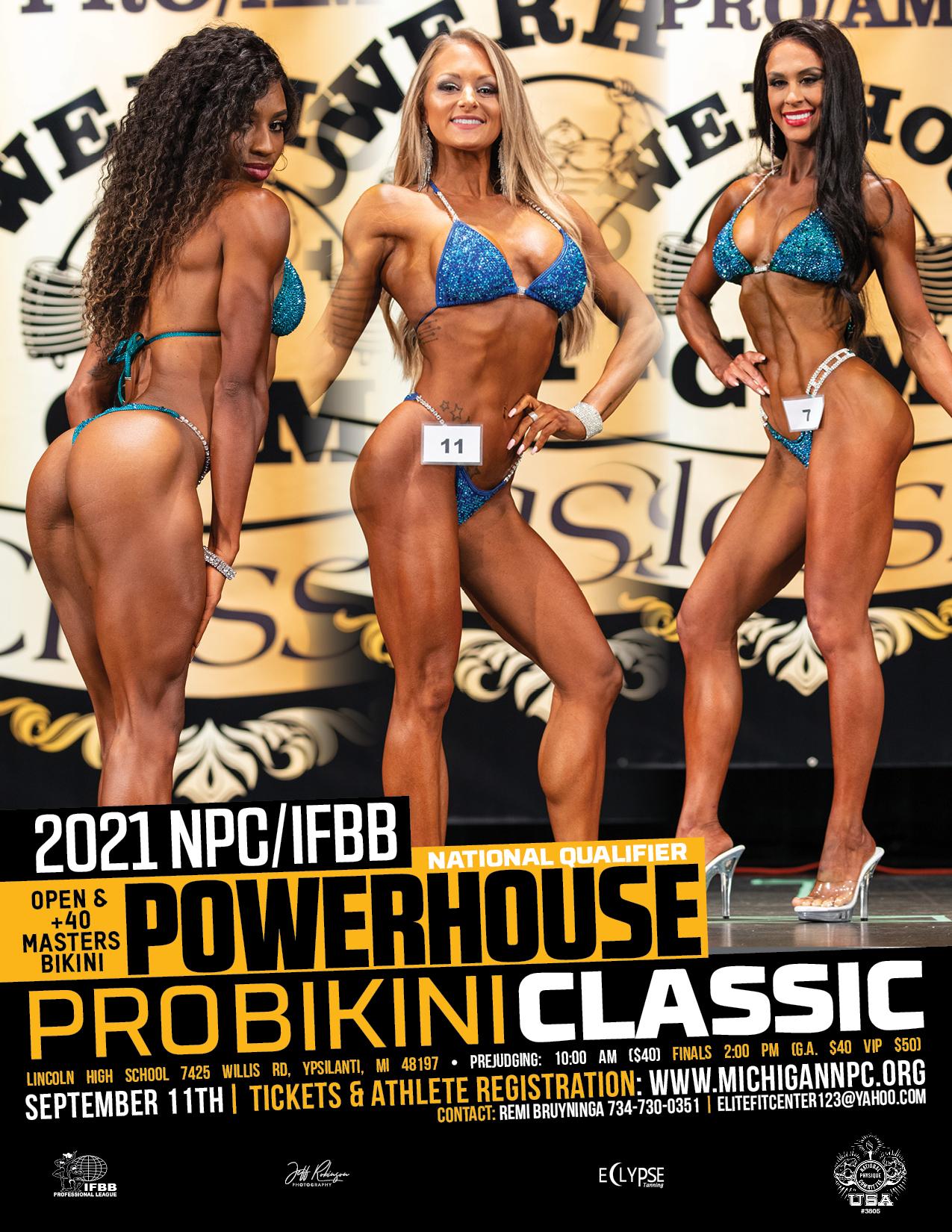 2021 IFBB Pro League Powerhouse Bikini / NPC Powerhouse Classic Poster
