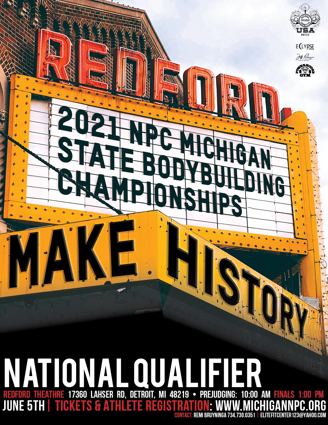 2021 NPC Michigan State Championships Poster