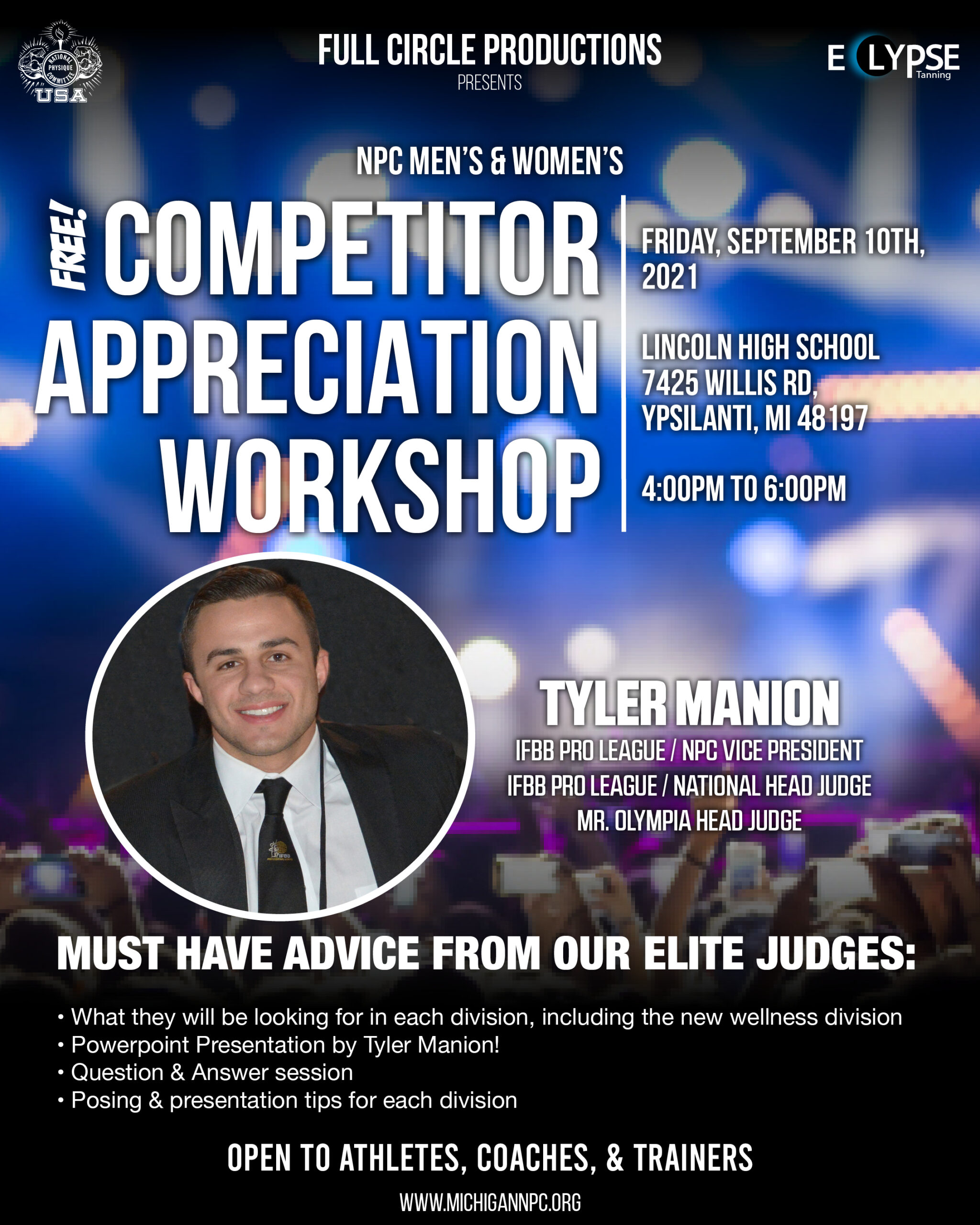 Free Competitor Appreciation Workshop Poster